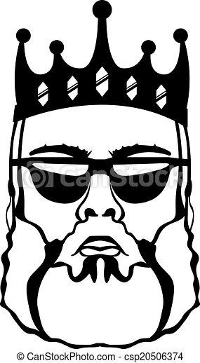King Beard King Beard Illustration Clip Art Vector Eps