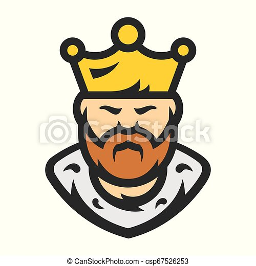 King Bearded Man Vector Cartoon Illustration Prince In The Crown Isolated On A White Background Canstock Cartoon happy and funny two knights. https www canstockphoto com king bearded man vector cartoon 67526253 html