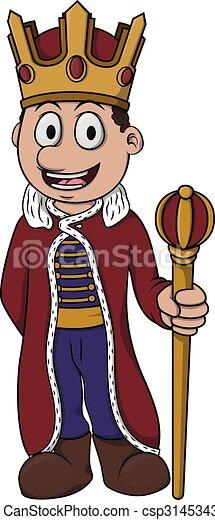 King boy cartoon illustration - csp31453432