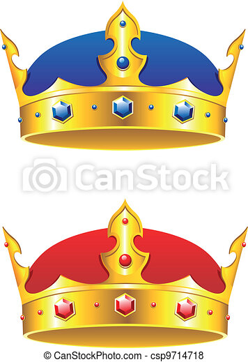 King crown with gems and embellishments - csp9714718