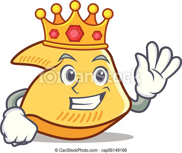 king fortune cookie mascot cartoon vector illustration clip art rh canstockphoto com free fortune cookie clipart