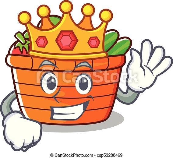 king fruit basket character cartoon vector illustration clip art rh canstockphoto com fruit basket clip art fruit basket clipart free