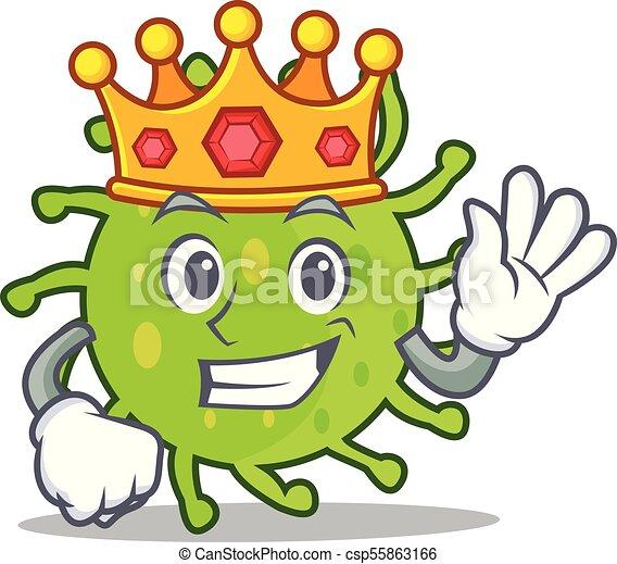 king green bacteria mascot cartoon vector illustration clip art rh canstockphoto com bacteria clipart png good bacteria clipart