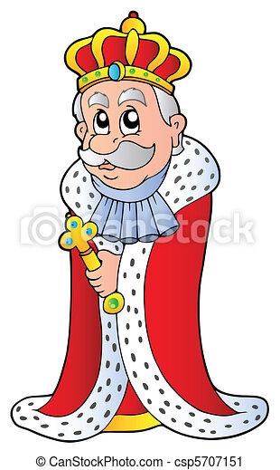 King holding sceptre - csp5707151