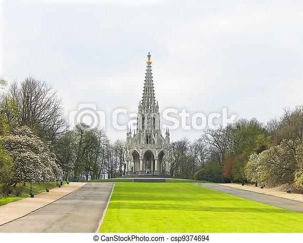 King Leopold I Monument Brussels, Belgium - csp9374694