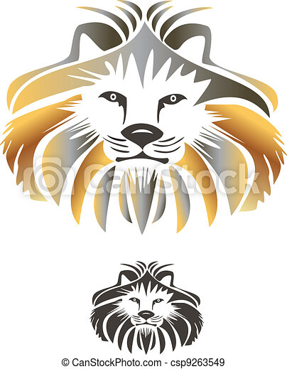 King lion vector logo - csp9263549