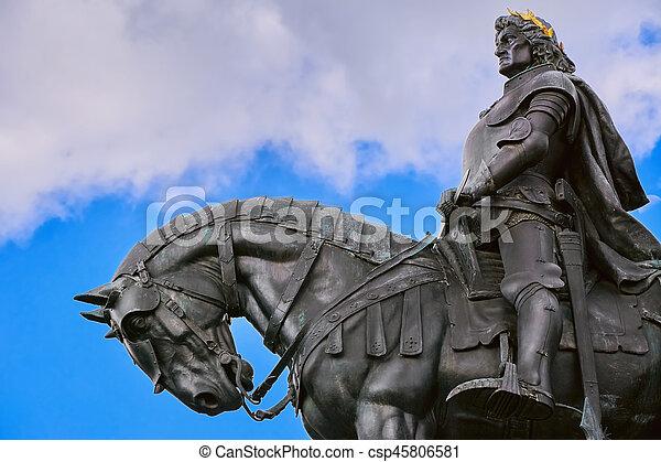 King Matthias Corvin Statue - csp45806581