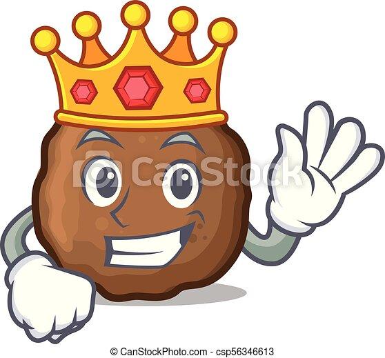 king meatball mascot cartoon style vector illustration vector clip rh canstockphoto com meatball clipart meatball clipart black and white