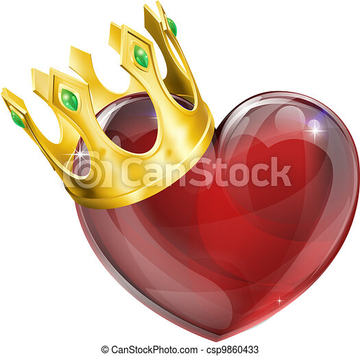 King of hearts concept - csp9860433