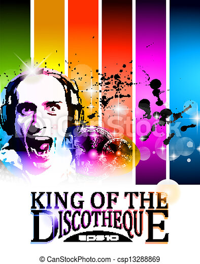 King of the discotheque flyer - csp13288869