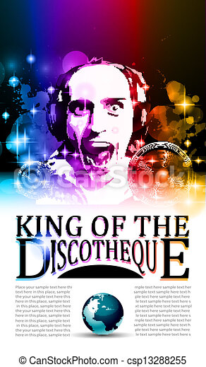 King of the discotheque flyer - csp13288255