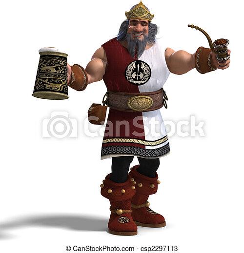 king of the fantasy dwarves - csp2297113