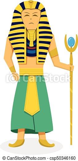 king pharaoh on white in flat style vector design clip art vector rh canstockphoto com pharaoh headdress clipart pharaoh mask clipart