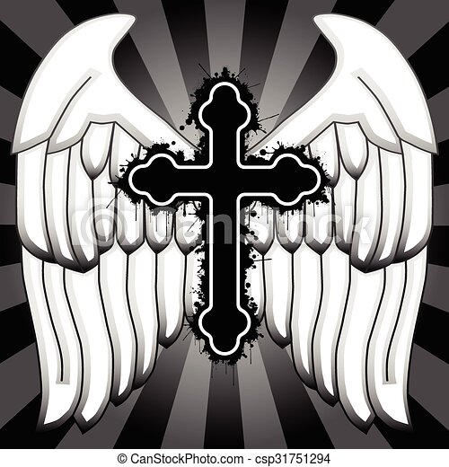 Kingdom Of Heaven An Illustration Of A Cross With Wings As A Symbol