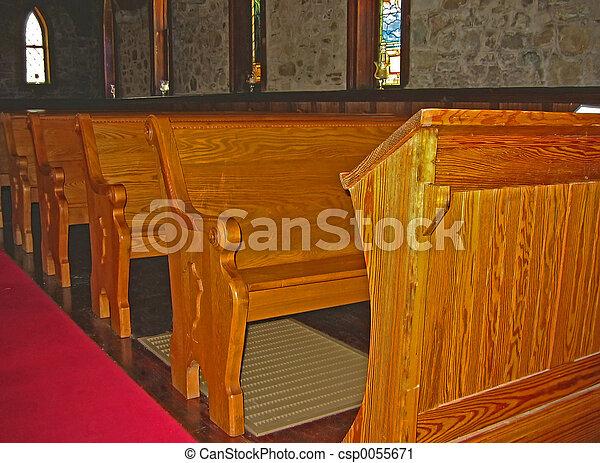 kirche, kirchenstühle - csp0055671