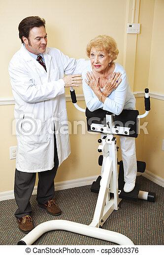 kiropraktik terapi, fysisk - csp3603376