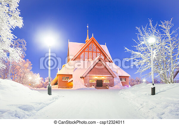 Kiruna cathedral Sweden - csp12324011