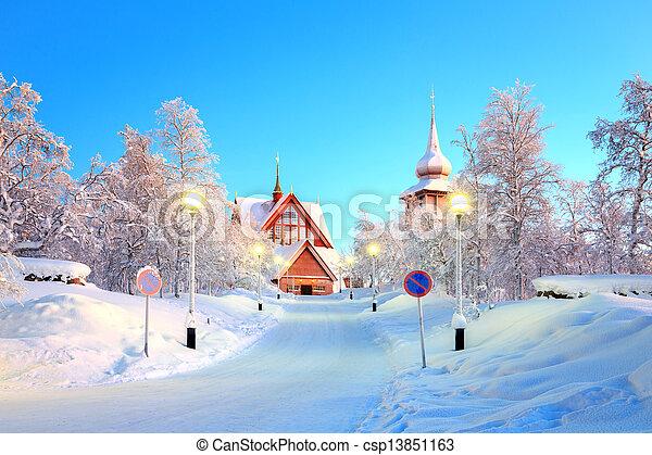 Kiruna cathedral Sweden - csp13851163
