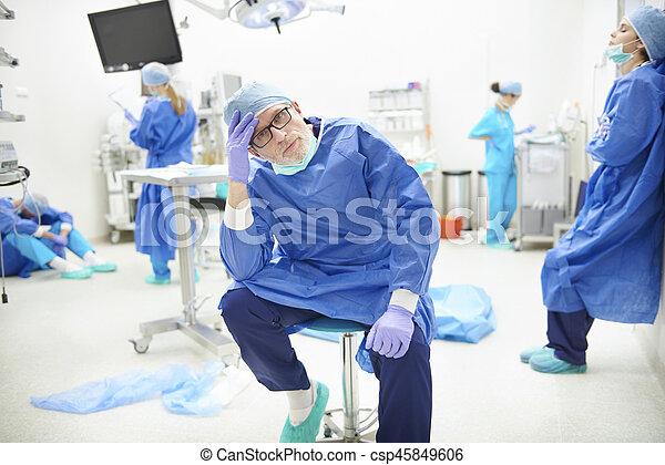 trött efter operation
