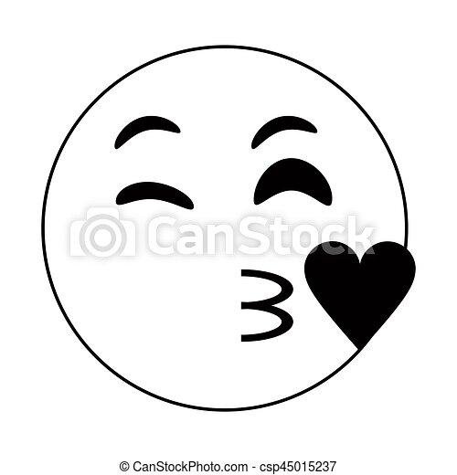 emoticon thin line vector illustration eps 10