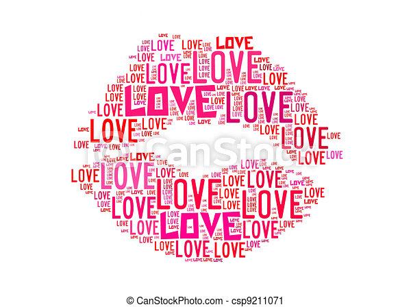 Love text art
