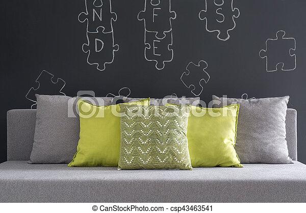 Kissen Sofa Grün