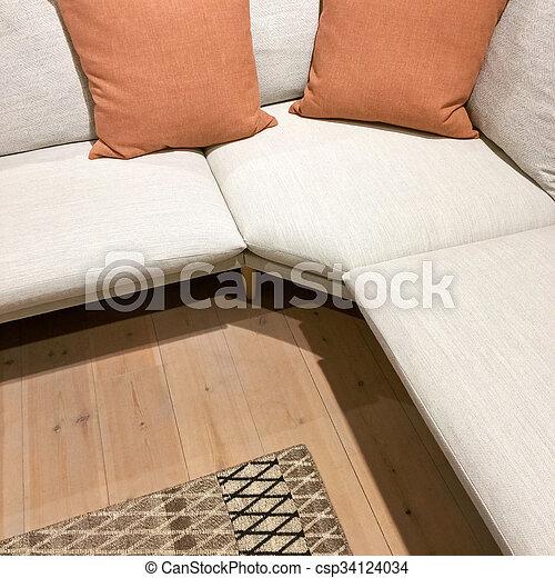 Kissen Sofa Modern Zwei Ecke