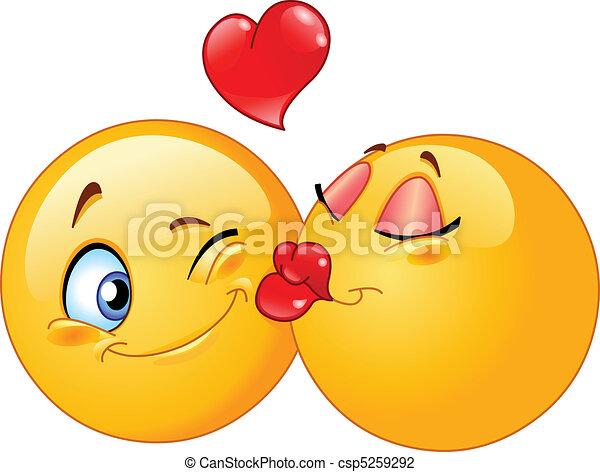 Kissing emoticons - csp5259292