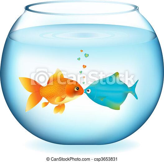 kissing fishes two fishes kissing in aquarium isolated on white rh canstockphoto com aquarium clip art free aquarium clipart