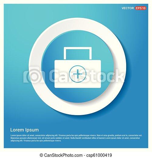 kit médical, icône - csp61000419