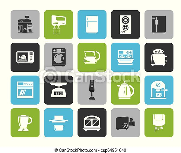 kitchen appliances and kitchenware icons - csp64951640