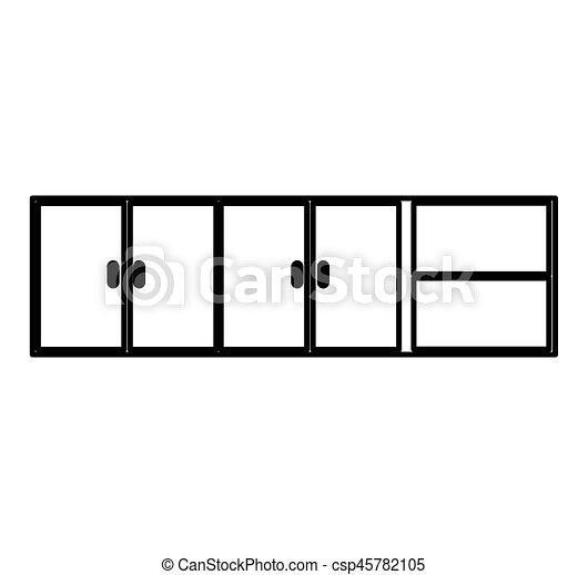 Kitchen Cabinet Isolated Icon Vector Illustration Design