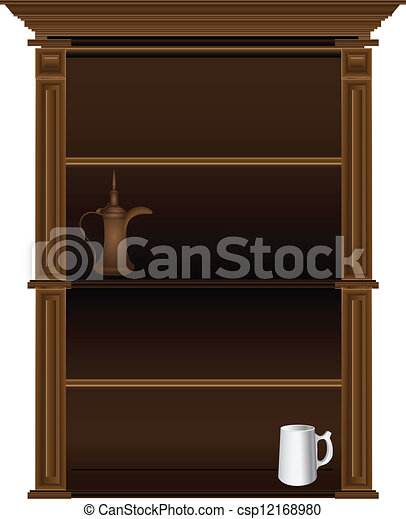 Kitchen Cabinet With Dishes Antique Kitchen Cupboard In