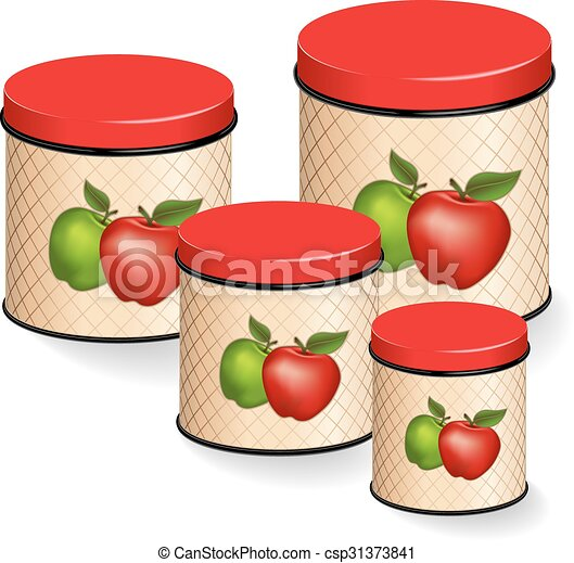 kitchen canisters set with apples kitchen canisters set eps vector search clip art. Black Bedroom Furniture Sets. Home Design Ideas