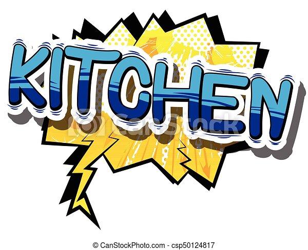 kitchen comic book word kitchen comic book word on vector rh canstockphoto ie clip art kitchen utensils clip art kitchen items