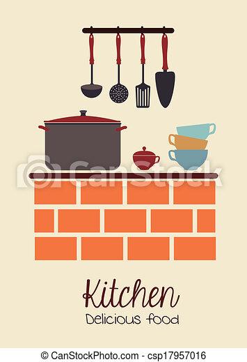 kitchen design - csp17957016