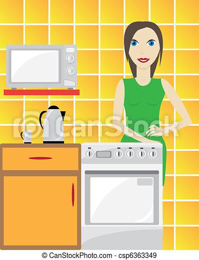 Kitchen - csp6363349