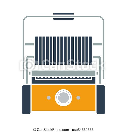 Kitchen Electric Grill Icon - csp84562566