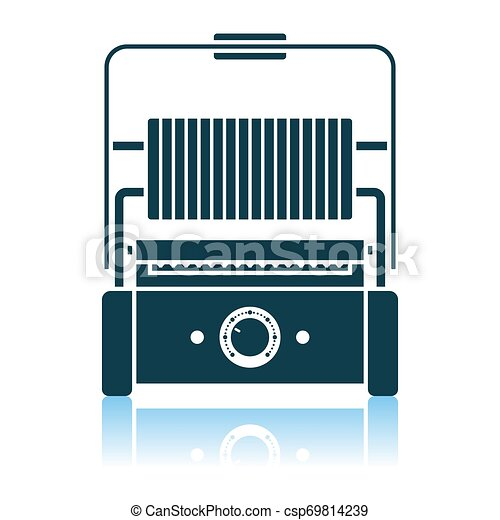 Kitchen Electric Grill Icon - csp69814239