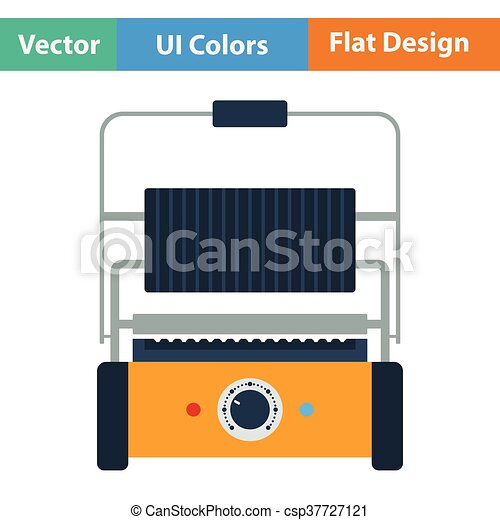 Kitchen electric grill icon - csp37727121