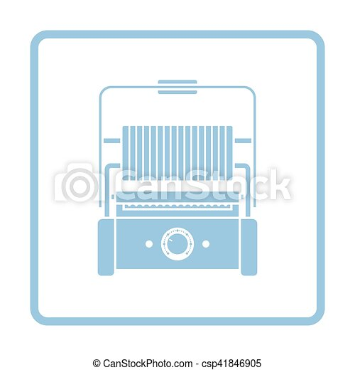 Kitchen electric grill icon - csp41846905