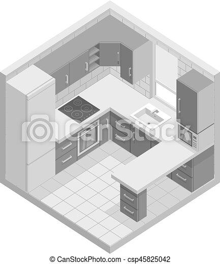 Kitchen - csp45825042