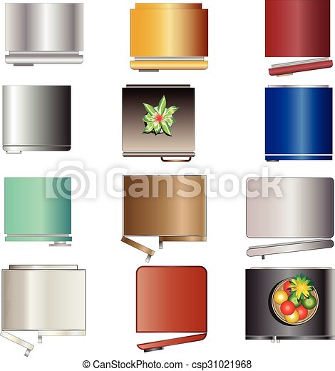 Kitchen equipment , refrigerators top view set 6 for ...