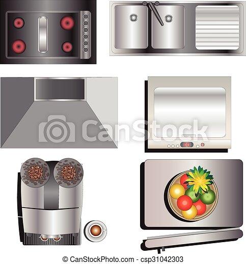 Kitchen Set Clip Art