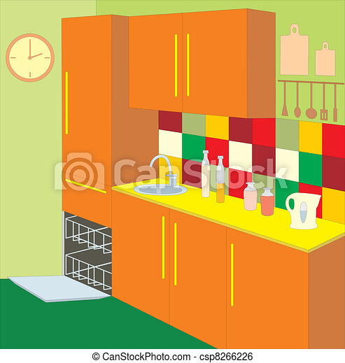 Kitchen furniture. Interior - csp8266226