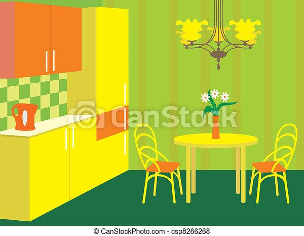 Kitchen furniture. Interior - csp8266268