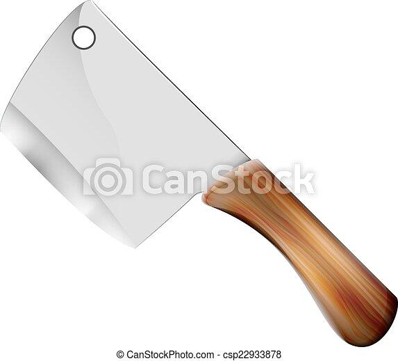 kitchen hatchet - csp22933878