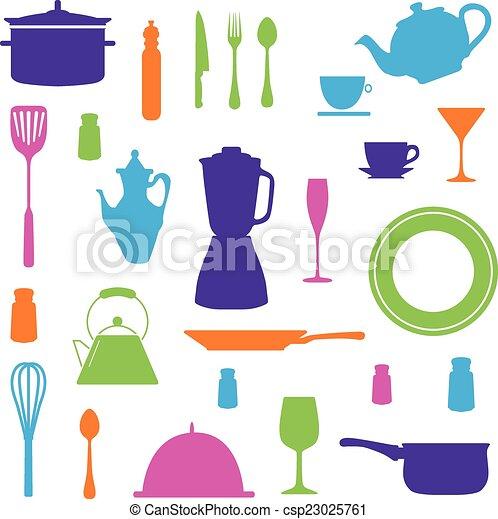 Kitchen Icons Set - csp23025761