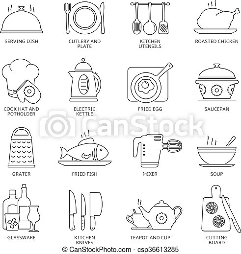 Kitchen icons set - csp36613285