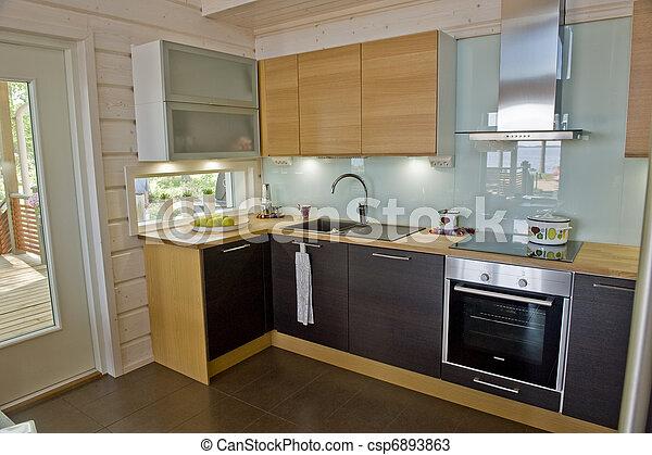 Kitchen in a cottage - csp6893863